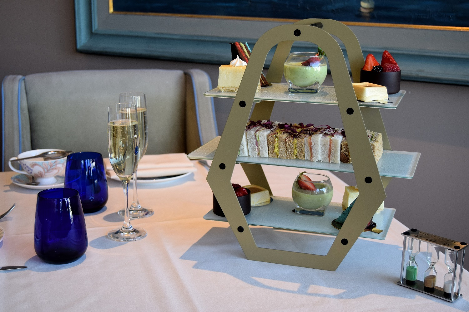 Afternoon Tea Stand and Champagne