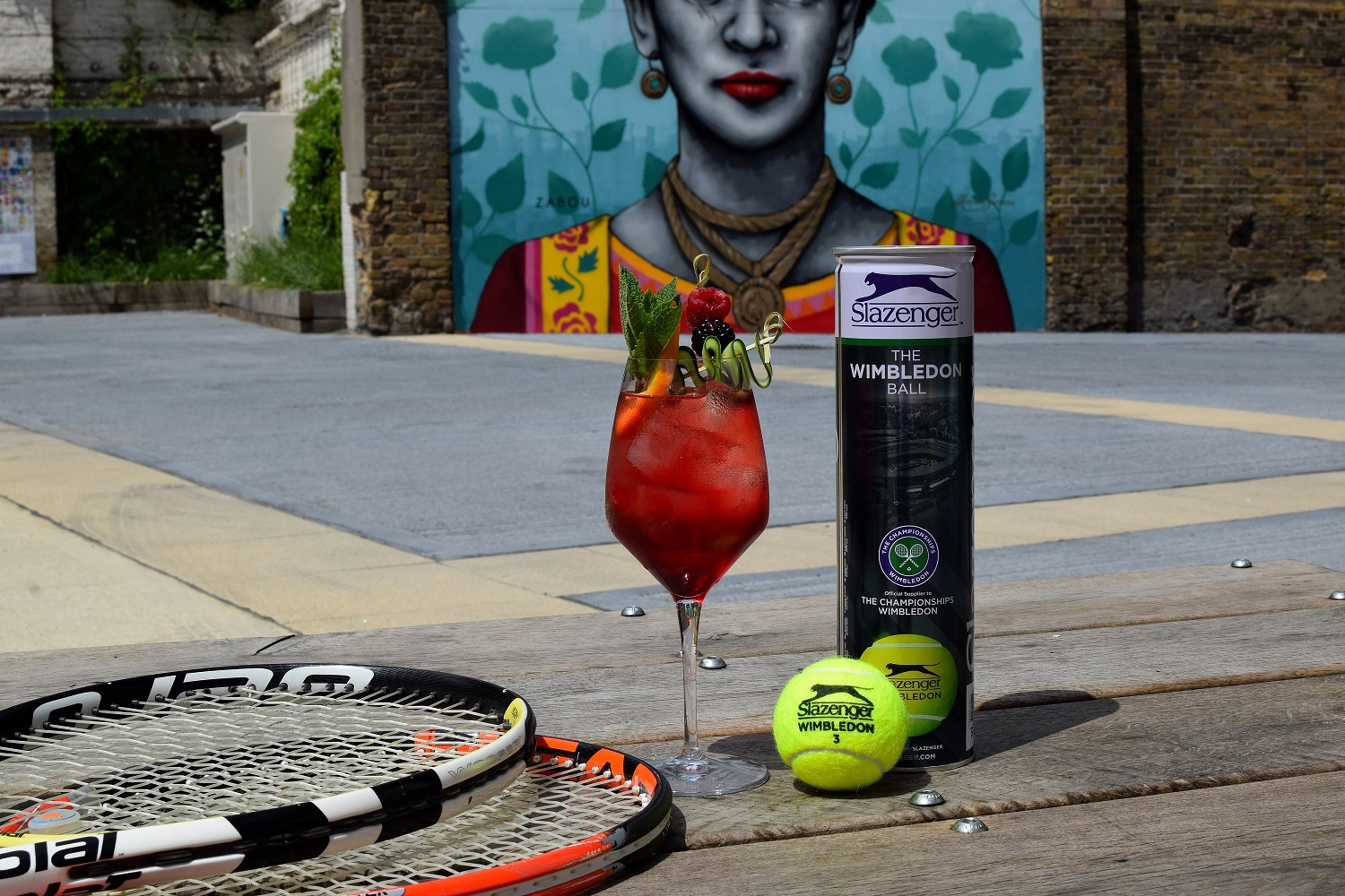 Wimbledon Cocktail and Tennis Rackets and Balls 2