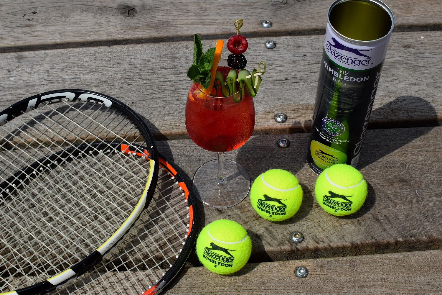 Wimbledon Cocktail and Tennis Rackets and Balls 3