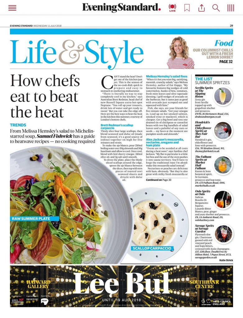 Evening Standard Life and Style 11-07-2018
