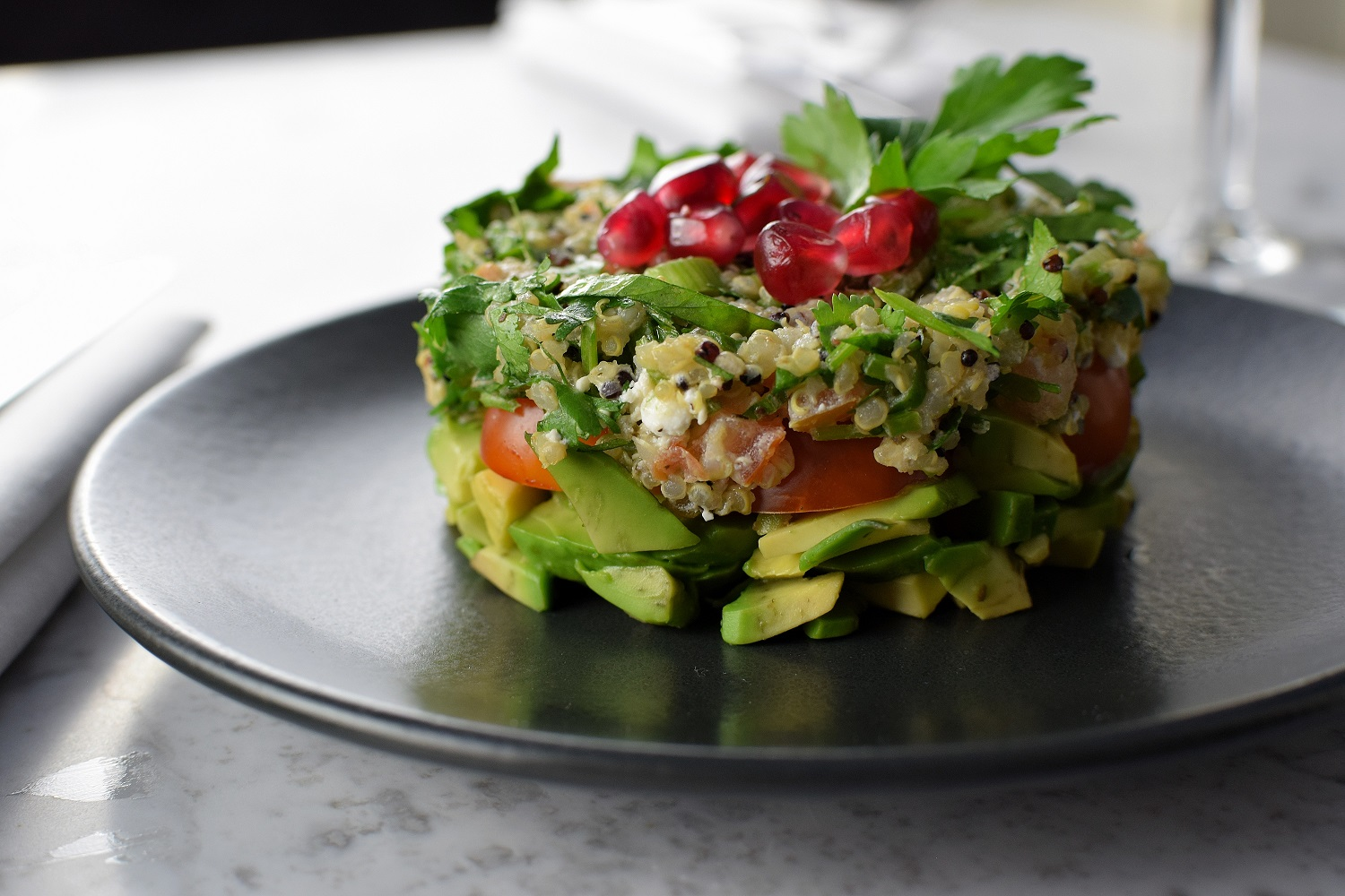 Shish Taouk and Avocado Salad