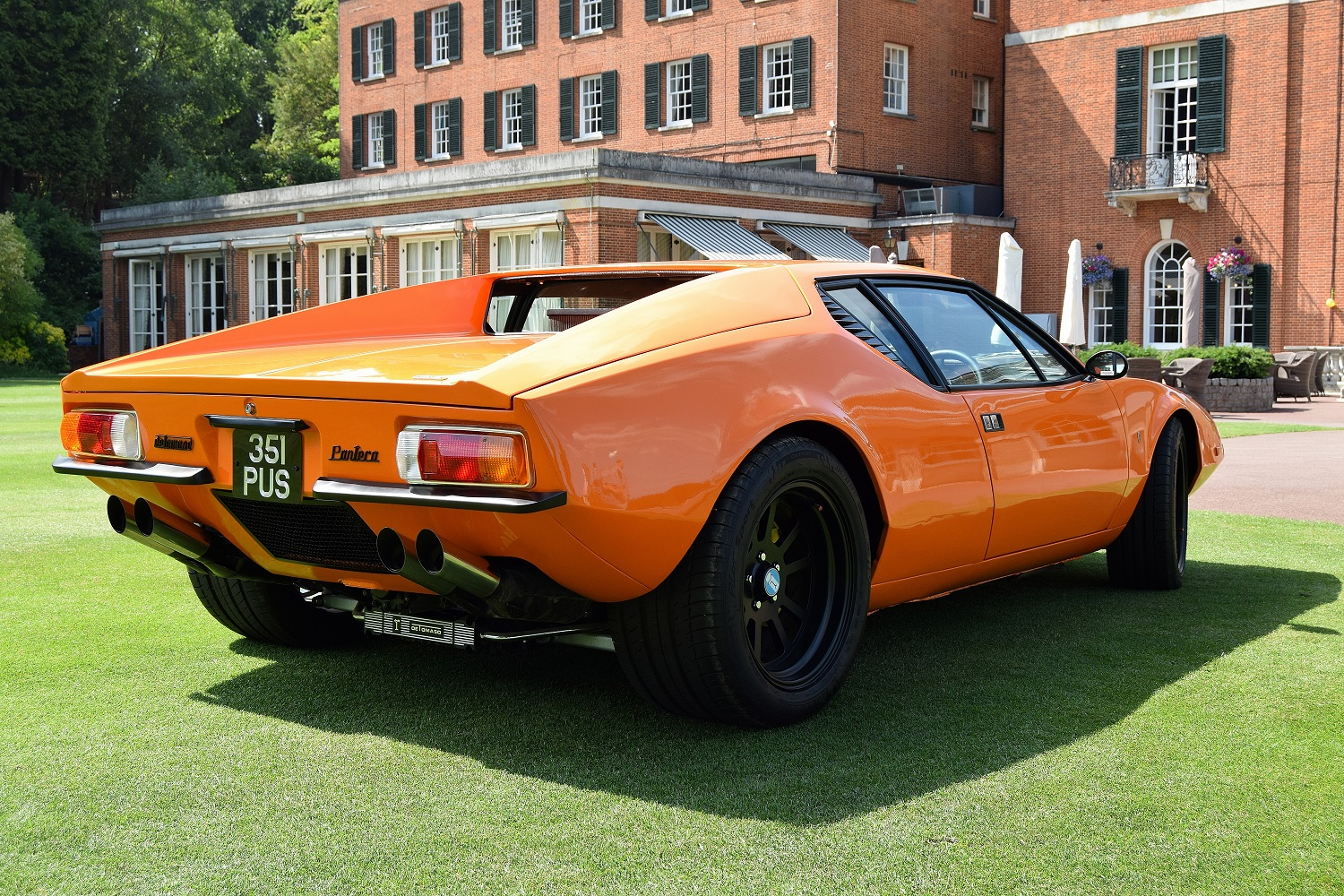 Rear quarter view of the Pantera