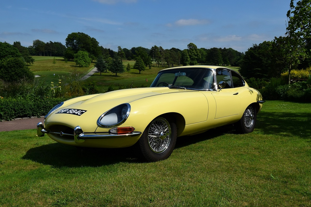 Side view of the Jaguar E-Type